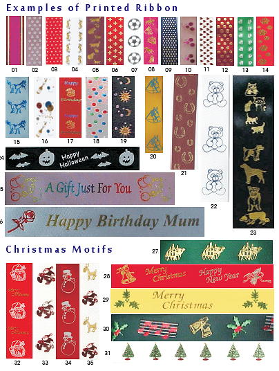 Festive and Special Occasion Ribbons!